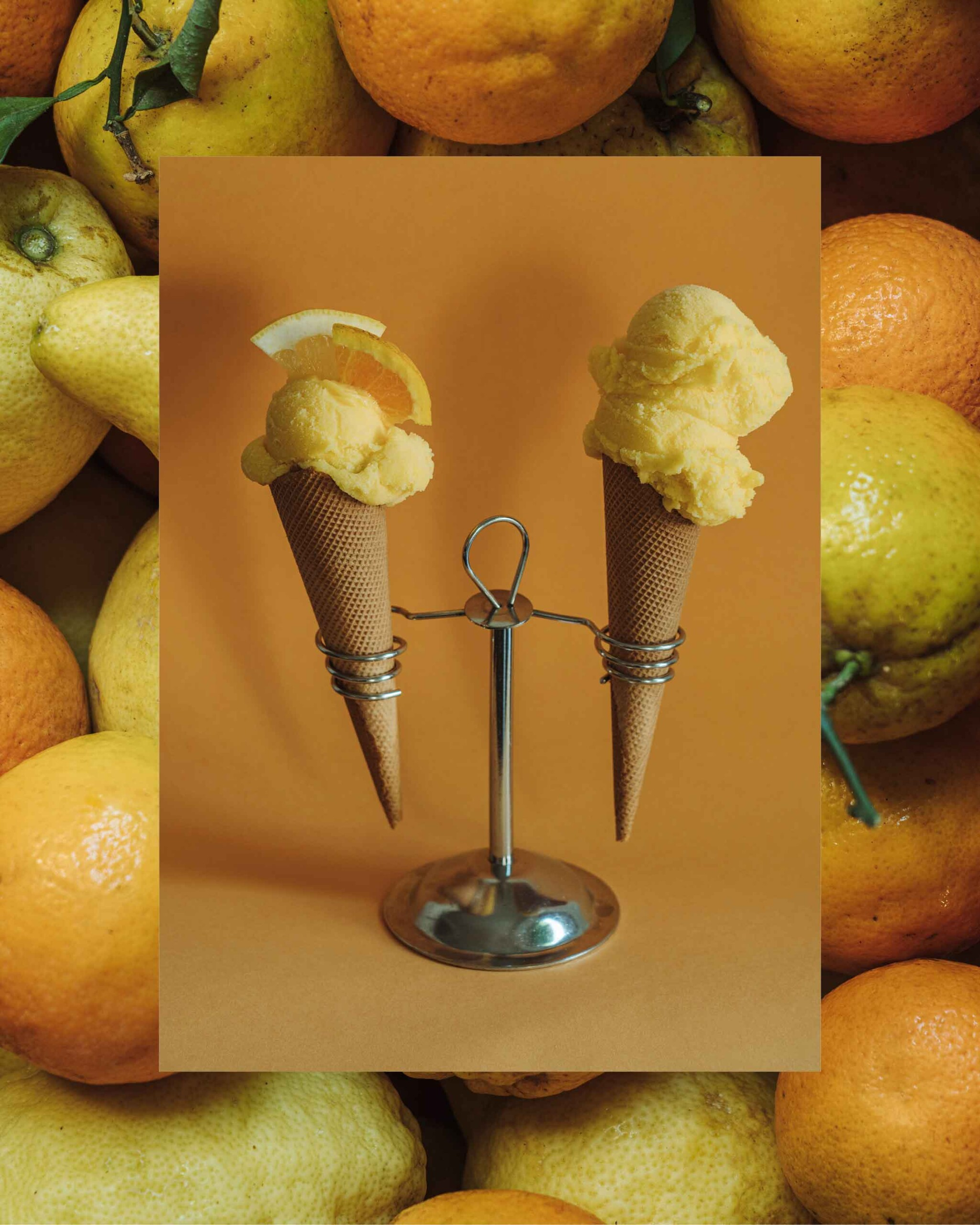 Helado de limon y naranja Can Miquel